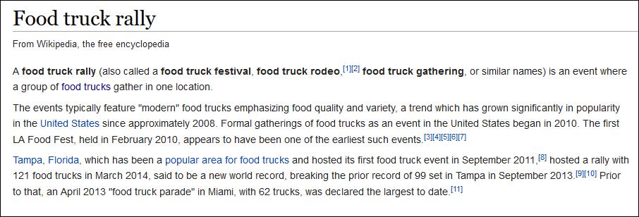 food rally